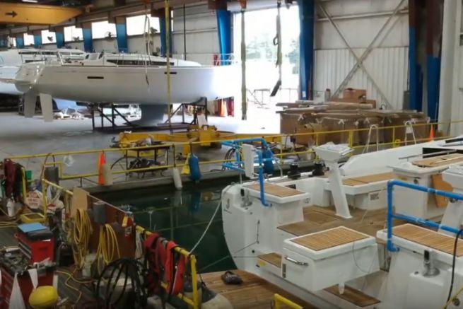 In der amerikanischen Fabrik von Marion gebaute Jeanneau-Segelboote