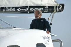 Michel Desjoyeaux am Steuer des Katamarans Z2015 de Mer Agitée