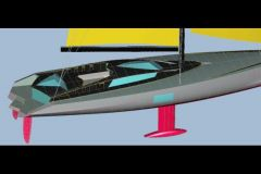 Südsee-Charter-Yacht-Projekt entworfen vom Schiffbauingenieur Luc Bouvet