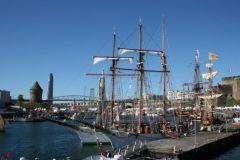 Die Schoner der französischen Marine werden immer von der Guip-Werft gewartet