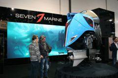 Sieben Marine-Außenbordmotoren auf der Boot Düsseldorf