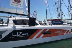 Leasingunternehmen sind wichtige Akteure in der Bootsbranche, wie z.B. Lizmer, Sponsor eines Katamarans auf der Route du Rhum