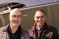Patrice Passinge und Philippe Brabetz, die ehemaligen und neuen Führer der Méta (von links nach rechts)