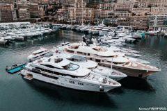 Yachten auf der Monaco Yacht Show