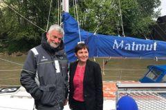Annick Girardin, die neue Ministerin für das Meer, mit Jean-Luc Van den Heede