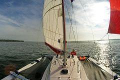 Ansicht des Trimarans Astus 24 von den Astus-Booten